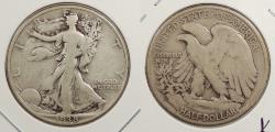 Us Coins - 1938 D Walking Liberty 50 Cents (Half Dollar)