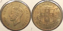 World Coins - JAMAICA: 1950 Penny