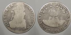 World Coins - BOLIVIA: 1834-Potosi LM 8 Soles