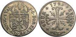 World Coins - SWISS CANTONS: Neuchatel 1793 1/2 Batzen