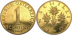 World Coins - AUSTRIA: 1967 1 Schilling