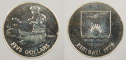World Coins - KIRIBATI: 1979 Scarcer than Proof issue. 5 Dollars