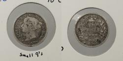 World Coins - CANADA: 1899 Small 9s. 10 Cents