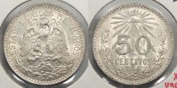 World Coins - MEXICO: 1944-M 50 Centavos