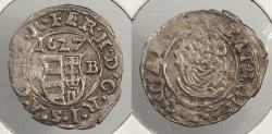 World Coins - HUNGARY: 1627-KB Denar
