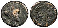 Ancient Coins - Phoenicia Tyre Pseudo-Autonomous coinage, time of Trajan 98-117 A.D. AE11 VF