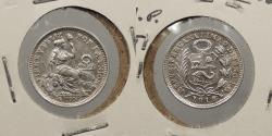 World Coins - PERU: 1916/6 Far right 6. 1/2 Dinero