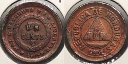 World Coins - HONDURAS: 1907 'UN' over 10 1 Centavo