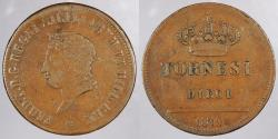 World Coins - ITALIAN STATES: Naples 1819 10 Tornesi