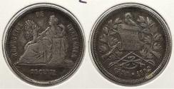 World Coins - GUATEMALA: 1890 25 Centavos