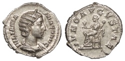 Ancient Coins - Julia Mamaea, mother of Severus Alexander 222-235 A.D. Denarius Rome Mint Choice EF
