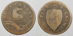 Us Coins - 1786 New Jersey; Colonial Colonial Coinage Maris 24-R; W-4975 Fine
