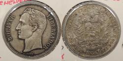 World Coins - VENEZUELA: 1936 5 Bolivares
