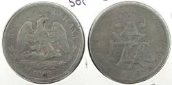 World Coins - MEXICO: 1869-Go S 50 Centavos