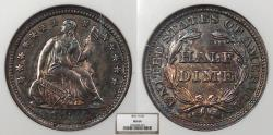 Us Coins - 1850 Seated Liberty 5 Cent (Silver) NGC MS-64