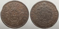 World Coins - PORTUGAL: 1812 Mintage 399,077 5 Reis
