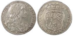 World Coins - ITALIAN STATES Naples Charles II of Spain 1689 Carlino of 10 Grani EF