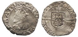 World Coins - FRANCE Besançon Charles V, as Holy Roman Emperor 1530-1556 1/2 Blanc 1546 EF