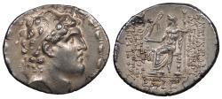 Ancient Coins - Seleukid Kings Alexander I Balas 150-145 B.C. Tetradrachm EF