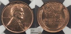 Us Coins - 1929 D Lincoln 1 Cent NGC MS-64 RD
