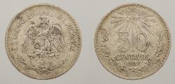 World Coins - MEXICO: 1907-M 50 Centavos