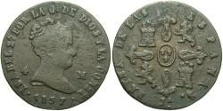 World Coins - SPAIN: Isabella II 1837 JA 4 Maravedis