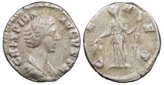 Ancient Coins - Crispina, wife of Commodus 178-182 A.D. Denarius Rome Mint Near VF