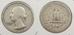 Us Coins - 1934 Washington 25 Cents (Quarter) Doubled die obverse