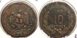 World Coins - MEXICO: Guerrero - Taxco 1915 Revolution coinage 10 Centavos