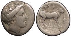 Ancient Coins - Euboea Histiaea c. 3rd century-146 B.C. Drachm Good Fine