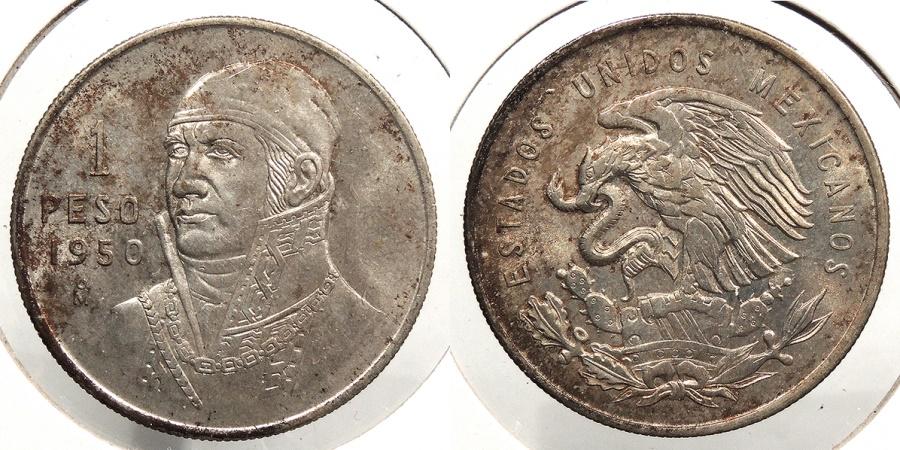 World Coins - MEXICO: 1950-Mo Peso