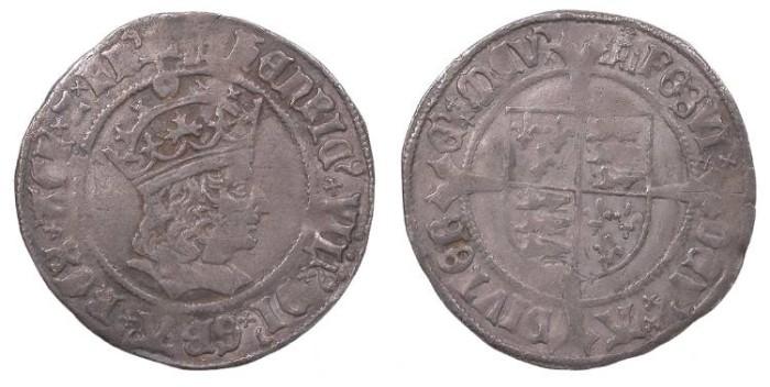World Coins - ENGLAND Henry VIII 1509-1547 Groat Near VF