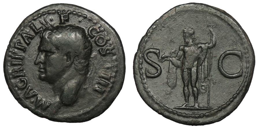 Ancient Coins - Agrippa Died 12 B.C. As Rome Mint Good Fine