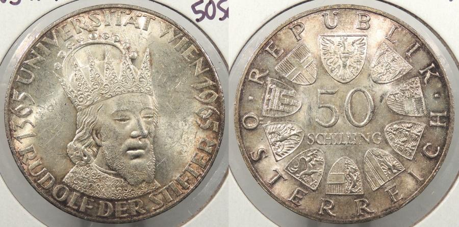 World Coins - AUSTRIA: 1965 Vienna University 50 Schillings #WC63869