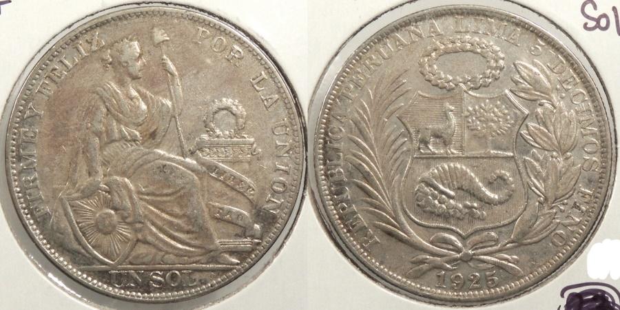 World Coins - PERU: 1925 Sol #WC63411