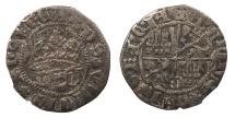 World Coins - SPAIN Castille & Leon  Enrique IV 1454-1474 1/2 Real  Near VF
