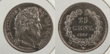 World Coins - FRANCE: 1847-A 25 Centimes