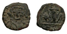 Ancient Coins - Maurice Tiberius 582-602 AD Decanummium Constantinople Mint, officina A. VF