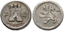 World Coins - PERU: 1820 L 1/4 Reale