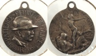 World Coins - FRANCE: 1918 Anti-TB 23mm Hanger Medal #WC63712