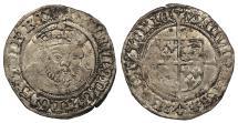 World Coins - ENGLAND Henry VIII 1509-1547 Halfgroat 1546-1547 EF
