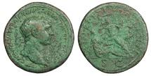 Ancient Coins - Trajan 98-117 A.D. Sestertius Rome Mint VF
