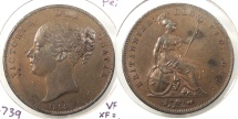 World Coins - GREAT BRITAIN: 1854 Penny