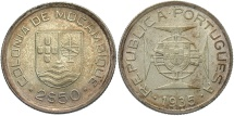 World Coins - MOZAMBIQUE: 1935 2 1/2 Escudos