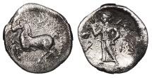 Ancient Coins - Thessaly Larissa c. 440-400 B.C. Obol VF