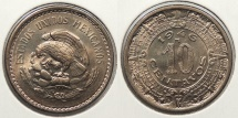 World Coins - MEXICO: 1946-M 10 Centavos