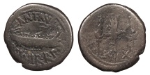 Ancient Coins - Marc Antony 43-31 B.C. Denarius Military Mint moving with Marc Antony Good Fine