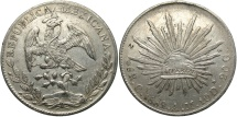 World Coins - MEXICO: 1889 CN/AM 8 Reales
