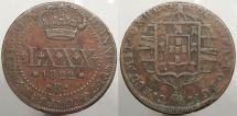 World Coins - BRAZIL: 1822-R Mintage 617,000 80 Reis