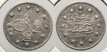 World Coins - TURKEY: AH1293 Yr27 (1905) Kurush